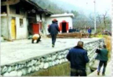 Der wilde Große Panda besucht Dorf